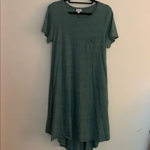 Lularoe carly dress green size large